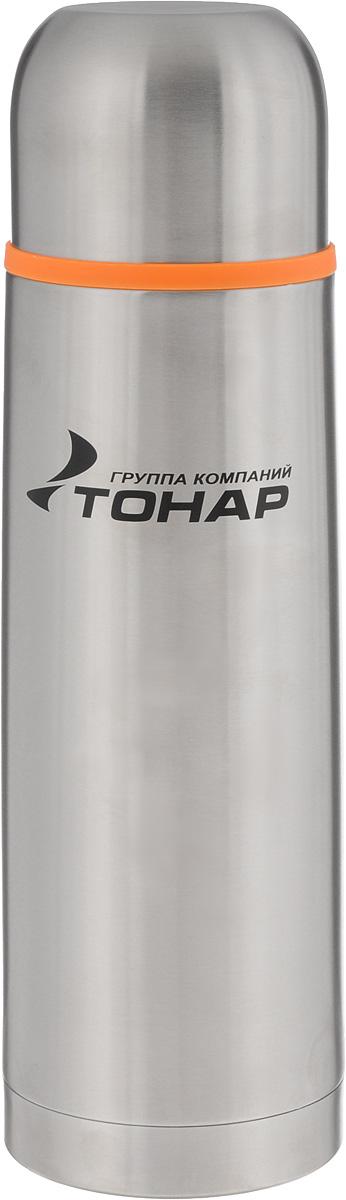 Термос ТОНАР HS TM-015, 750 мл149739Термос ТОНАР HS TM-015 выполнен из нержавеющей стали и оснащен двойными стенками с вакуумной изоляцией, которая позволяет сохранять напитки горячими или холодными длительное время. Корпус покрыт защитным прозрачным лаком. Термос отлично сохраняет температуру, свежесть напитка и его оригинальный вкус. Дополнительная теплоизоляция внутри пробки. Пробка без кнопки надежно закрывает колбу и проста в использовании. Крышка может послужить вместительной чашкой, также в комплект входит инструкция по эксплуатации. Термос сохраняет тепло до 12 часов и удерживает холод до 24 часов. Диаметр горлышка: 5 см. Диаметр основания: 8 см. Высота (с учетом крышки): 27,5 см. Размер крышки: 8 х 8 х 6 см.