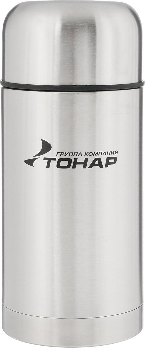 Термос ТОНАР HS TM-018, с чехлом, 1 л149736Термос ТОНАР HS TM-018 - универсальная модель, оснащенная двойными стенками с вакуумной изоляцией, которая позволяет сохранять напитки горячими или холодными длительное время. Корпус изготовлен из высококачественной нержавеющей стали. Широкое горло позволяет использовать термос для первых и вторых блюд. Термос оснащен глухой крышкой-пробкой, которая предотвращает проливание, а кнопка служит для спуска пара. Крышку можно использовать как чашку. В комплект входят удобный чехол для хранения и переноски термоса, инструкция по эксплуатации. Стильный металлический термос понравится абсолютно всем и впишется в любой интерьер кухни. Диаметр горлышка: 8 см. Диаметр основания термоса: 10 см. Размер крышки-чаши: 10,3 х 10,3 х 6 см. Высота термоса (с учетом крышки): 24,5 см.