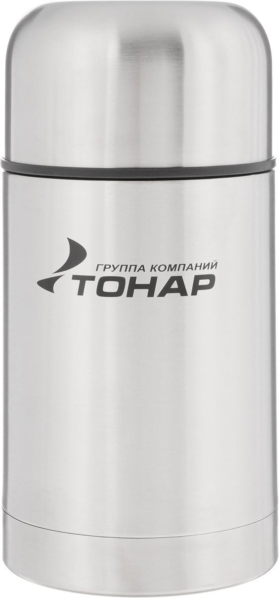 Термос ТОНАР HS TM-017, с чехлом, 750 мл149735Термос ТОНАР HS TM-017 - универсальная модель, оснащенная двойными стенками с вакуумной изоляцией, которая позволяет сохранять напитки горячими или холодными длительное время. Корпус изготовлен из высококачественной нержавеющей стали. Широкое горло позволяет использовать термос для первых и вторых блюд. Термос оснащен глухой крышкой-пробкой, которая предотвращает проливание, а кнопка служит для спуска пара. Крышку можно использовать как чашку. В комплект входят удобный чехол для хранения и переноски термоса, инструкция по эксплуатации. Стильный металлический термос понравится абсолютно всем и впишется в любой интерьер кухни. Диаметр горлышка: 8 см. Диаметр основания термоса: 10 см. Размер крышки-чаши: 10,3 х 10,3 х 6 см. Высота термоса (с учетом крышки): 20 см.