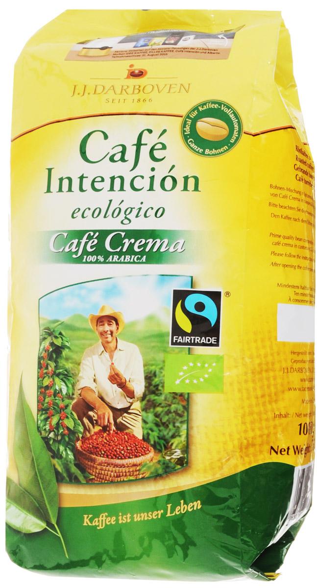 J.J. Darboven Intencion Ecologico Crema кофе в зернах, 1 кг4006581020686Cafe Intencion Ecologico Crema - это натуральный жареный кофе в зернах, выращенный на лучших плантациях Центральной и Южной Америки. Компания J.J.Darboven работает с кофе Fair trade c 1993 года. Такой кофе закупается напрямую у небольших фермерских хозяйств выращивающих кофе в высокогорных районах. Фермеры получают настоящую честную цену без участия посредников. Часть кофе Fair trade поставляется с плантаций сертифицированных как экологически чистых, что подразумевает полный отказ от применения химических удобрений и любых пестицидов. Кофе Fair trade автоматически является кофе высшего качества из возможного, так как небольшие хозяйства заботятся о своих плантациях и урожае самым лучшим образом, так как благополучие их семей зависит исключительно от качества собранного урожая кофейных зерен.