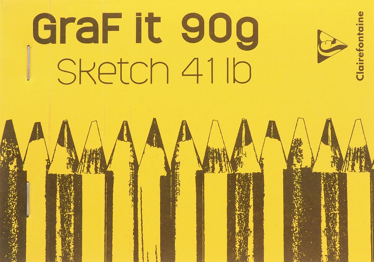 Блокнот Clairefontaine Graft It, горизонтальный, на скобах, цвет: желтый, 80 листов96619_желтый/горизонтальныйБлокнот на скобах Clairefontaine Graft It содержит 80 листов, выполненных из бумаги. Листы не разлинованы и оснащены микроперфорацией. Обложка выполнена из картона. Блокнот идеален для рисования и письма, также подойдет для эскизов и набросков.