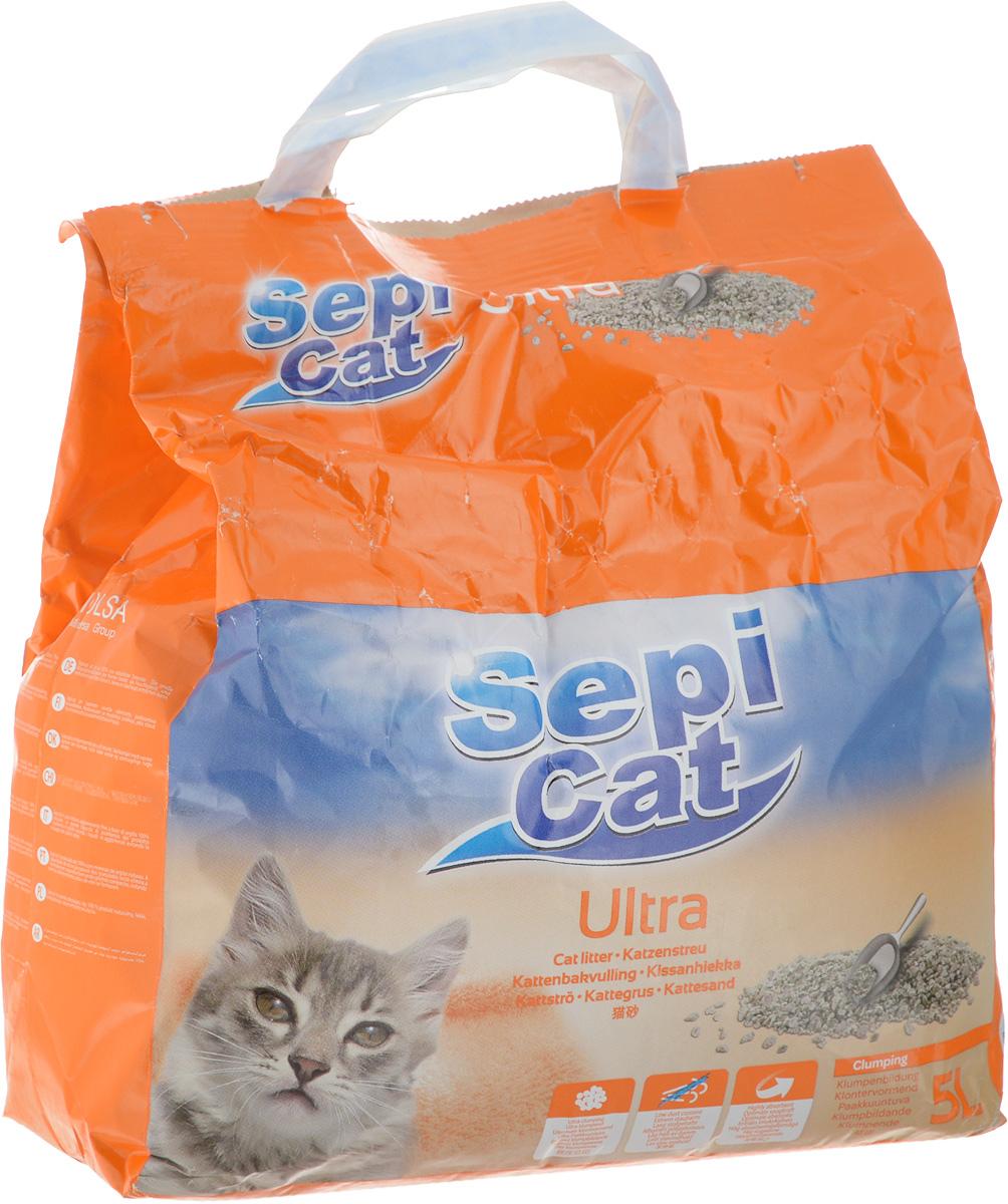 """Наполнитель для кошачьих туалетов SepiCat """"Ультра"""", комкующийся, 5 л 20409"""