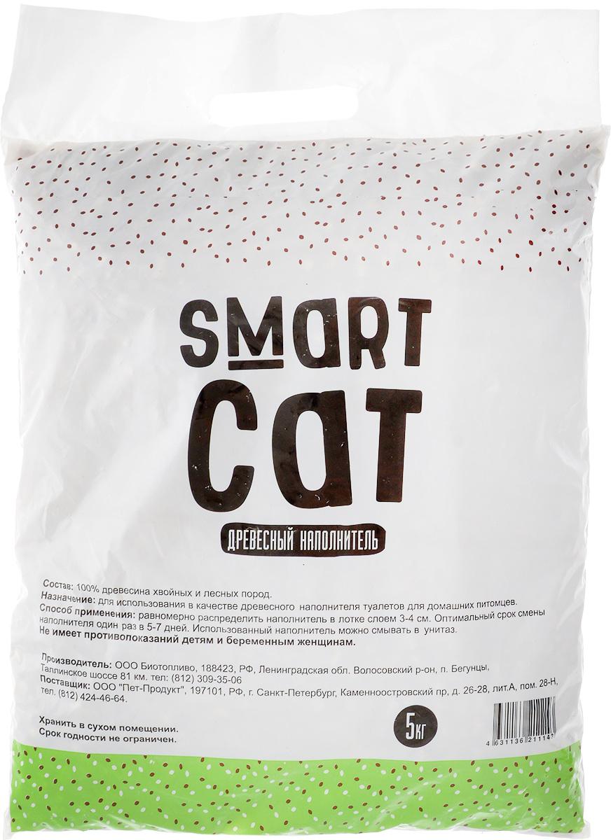 Наполнитель для кошачьих туалетов Smart Cat, древесный, 5 кг25097Наполнитель Smart Cat, выполненный из древесины хвойных и лесных пород, мгновенно впитывает влагу и надежно устраняет неприятные запахи. Преимущества наполнителя Smart Cat: - экологичный (не загрязняет окружающую среду), - безопасный (не вызывает аллергии у животных и людей). Наполнитель Smart Cat заботится о чистоте вашего дома и комфорте питомца! Товар сертифицирован.