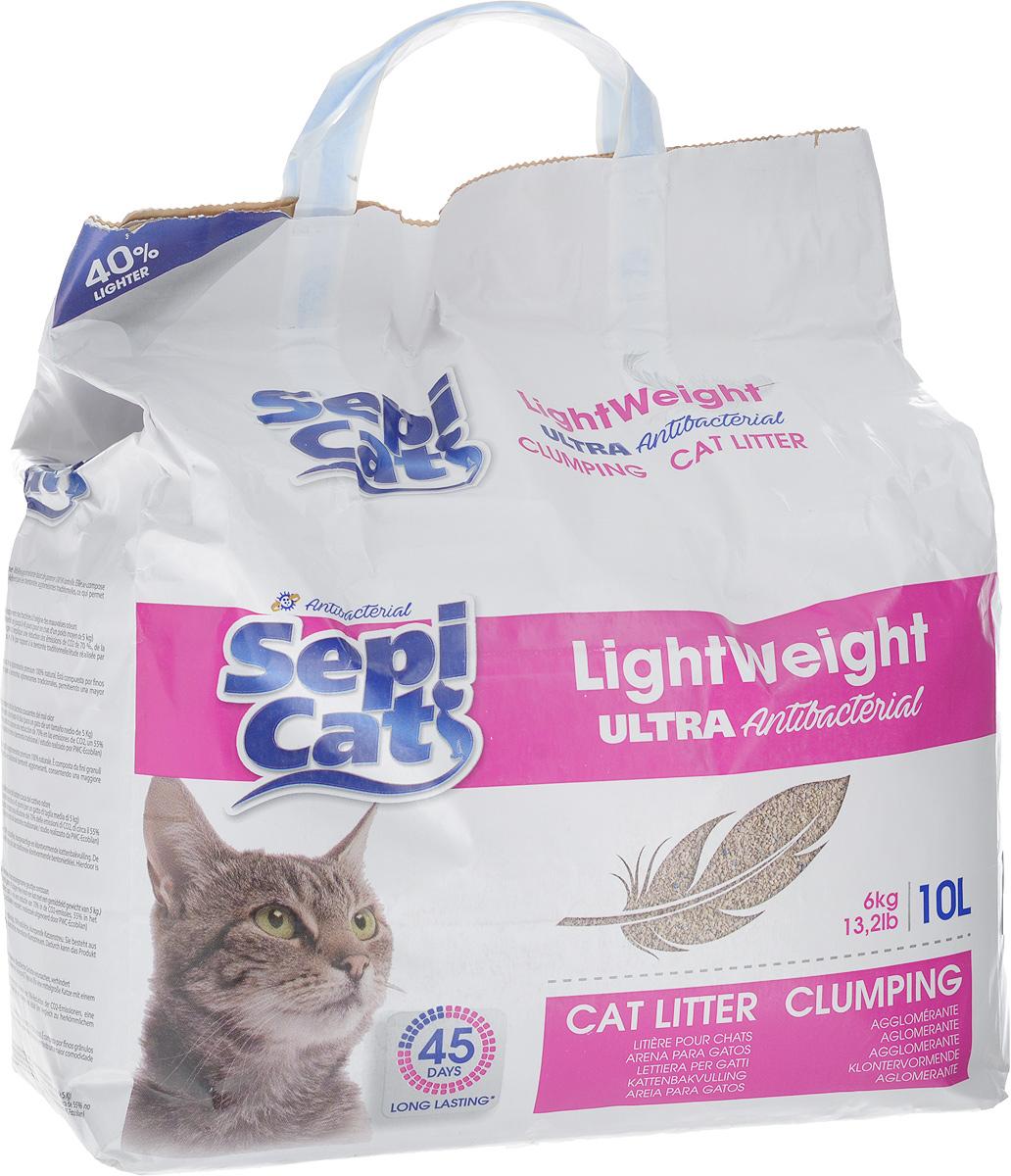 Наполнитель для кошачьих туалетов SepiCat Антибактериальный, комкующийся, облегченный, ультра, 10 л20748Комплектующий наполнитель для кошачьих туалетов SepiCat Антибактериальный состоит из мелкозернистых суперадсорбирующих глиняных гранул, которые на 40% легче традиционных комкующихся бентонитов, что облегчает уход и использование продукта. Преимущества наполнителя SepiCat Антибактериальный: - прекрасно комкуется, - очень экономно расходуется, - содержит сильный бактерицидный агент, препятствующий росту бактерий, которые вызывают появление неприятного запаха. Товар сертифицирован.