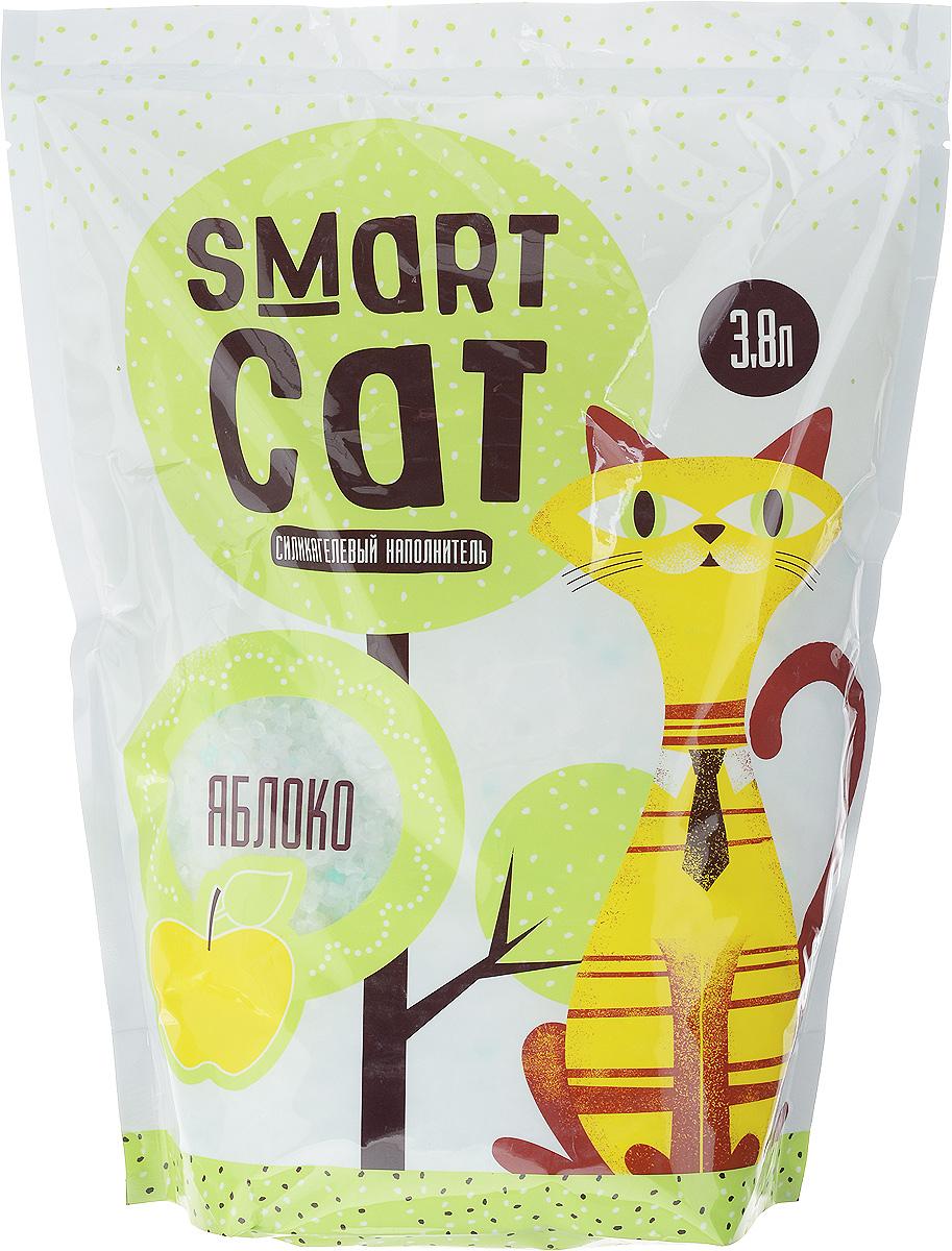 Наполнитель для кошачьих туалетов Smart Cat, силикагелевый, с ароматом яблока, 3,8 л24577Силикагелевый наполнитель Smart Cat представляет собой мелкие белоснежные гранулы с ароматом яблока, изготовленные из сухого геля поликремниевой кислоты. Такой состав обладает прекрасной способностью впитывать жидкость, а также мгновенно поглощать и удерживать туалетные запахи. Наполнитель Smart Cat не вызывает у питомцев аллергических реакций, не поднимает пыль при использовании и не прилипает к нежным кошачьим лапкам и длинной шерсти, а значит, не разносится по окружающей туалет территории. Использованный наполнитель из силикагеля удаляется из кошачьего лотка специальным совочком и утилизируется в мусорное ведро (его нельзя выбрасывать в унитаз). Наполнитель Smart Cat заботится о чистоте вашего дома и комфорте питомца! Товар сертифицирован.