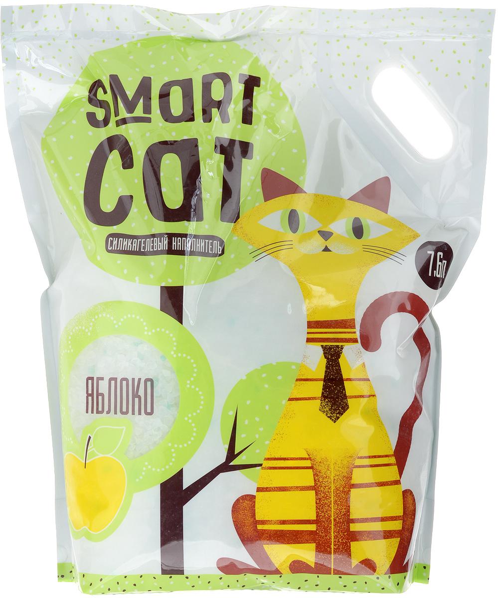 Наполнитель для кошачьих туалетов Smart Cat, силикагелевый, с ароматом яблока, 7,6 л24578Силикагелевый наполнитель Smart Cat представляет собой мелкие белоснежные гранулы с ароматом яблока, изготовленные из сухого геля поликремниевой кислоты. Такой состав обладает прекрасной способностью впитывать жидкость, а также мгновенно поглощать и удерживать туалетные запахи. Наполнитель Smart Cat не вызывает у питомцев аллергических реакций, не поднимает пыль при использовании и не прилипает к нежным кошачьим лапкам и длинной шерсти, а значит, не разносится по окружающей туалет территории. Использованный наполнитель из силикагеля удаляется из кошачьего лотка специальным совочком и утилизируется в мусорное ведро (его нельзя выбрасывать в унитаз). Наполнитель Smart Cat заботится о чистоте вашего дома и комфорте питомца! Товар сертифицирован.