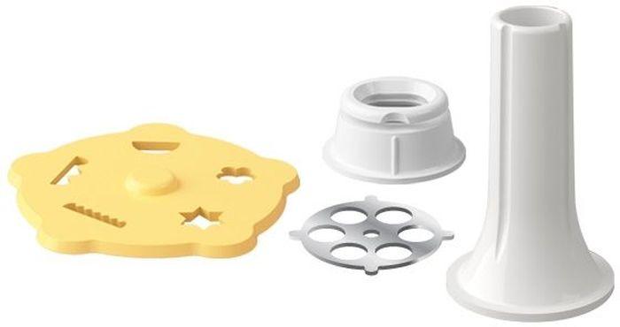 Аксессуары для мясорубки Tescoma Handy, : формочка для печенья, наполнитель колбас. 643587643587Формочка для печенья прекрасно подходит для приготовления домашнего печенья, наполнитель - для простого приготовления домашних колбас. Изготовлено из прочного пластика и первоклассной нержавеющей стали, подходит для мытья в посудомоечной машине, предназначено для мясорубки HANDY. Инструкция по использованию и рецепты внутри упаковки. Материал: пластик, нержавеющая сталь