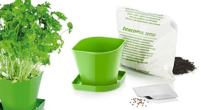 Набор для выращивания пряных растений Tescoma Sense. Петрушка. 899064899064Идеально подходит для выращивания петрушки в вашем доме. Набор содержит семена, органическую почву, горшок и миску. Изделия из износостойкого пластика. Материал: пластик
