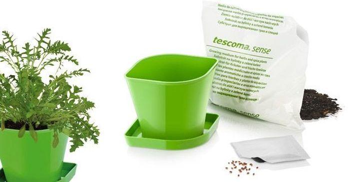 Набор для выращ-ия пряных растений Tescoma Sense. Руккола. 899074899074Набор включает в себя семена, органический почвенный субстрат био-качества и цветочный горшок из прочного пластика. Инструкция по применению внутри упаковки.