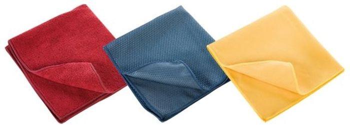 Кухонные полотенца Tescoma Clean Kit, 3 шт. 900670900670- Красное полотенце отлично подходит для сухой и влажной уборки на кухне. - Синее полотенце для сухой и влажной чистки и полировки из приборов из нержавеющей стали, стеклянных поверхностей включая стеклокераммические плиты и т.д. - Желтое идеально подойдет для сухой чистки плоских экранов, мониторов, ПК, сенсарных экранов, мобильных телефонов, фотоаппаратов и т.д. Материал: хлопок