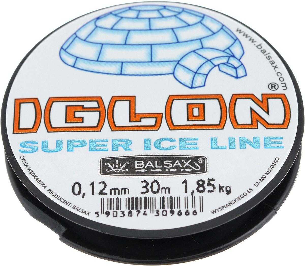 Леска зимняя Balsax Iglon, 30 м, 0,12 мм, 1,85 кг312-06012Леска Balsax Iglon изготовлена из 100% нейлона и очень хорошо выдерживает низкие температуры. Даже в самом холодном климате, при температуре вплоть до -40°C, она сохраняет свои свойства практически без изменений, в то время как традиционные лески становятся менее эластичными и теряют прочность. Поверхность лески обработана таким образом, что она не обмерзает и отлично подходит для подледного лова. Прочна в местах вязки узлов даже при минимальном диаметре.