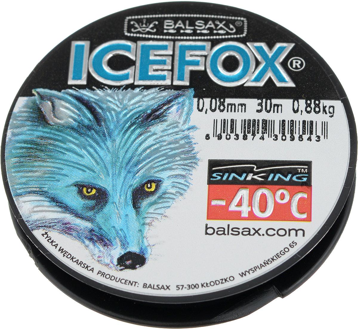 Леска зимняя Balsax Ice Fox, 30 м, 0,08 мм, 0,88 кг310-07008Леска Balsax Ice Fox изготовлена из 100% нейлона и очень хорошо выдерживает низкие температуры. Даже в самом холодном климате, при температуре вплоть до -40°C, она сохраняет свои свойства практически без изменений, в то время как традиционные лески становятся менее эластичными и теряют прочность. Поверхность лески обработана таким образом, что она не обмерзает и отлично подходит для подледного лова. Прочна в местах вязки узлов даже при минимальном диаметре.
