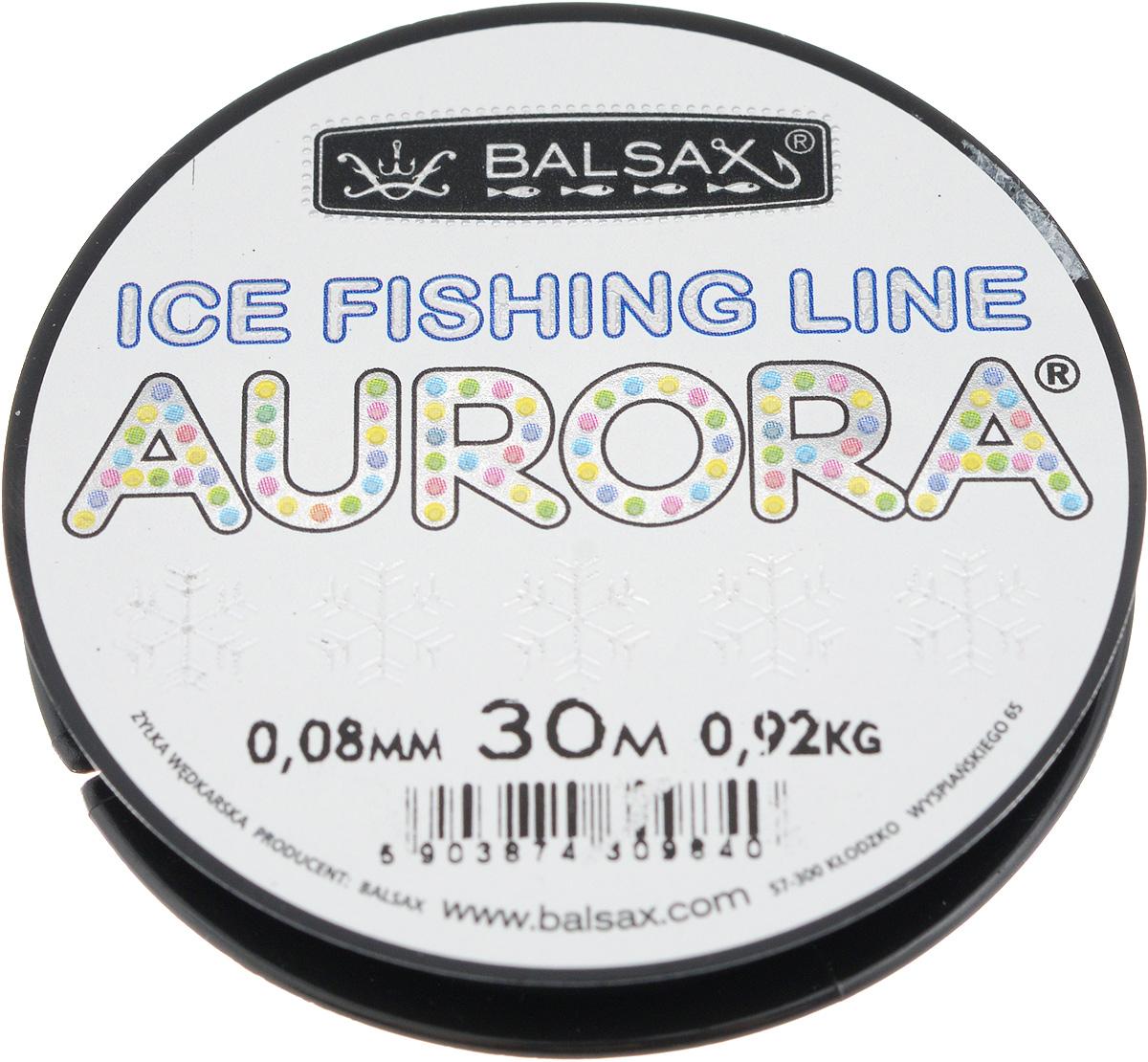 Леска зимняя Balsax Aurora, 30 м, 0,08 мм, 0,92 кг310-04008Леска Balsax Aurora изготовлена из 100% нейлона и очень хорошо выдерживает низкие температуры. Даже в самом холодном климате, при температуре вплоть до -40°C, она сохраняет свои свойства практически без изменений, в то время как традиционные лески становятся менее эластичными и теряют прочность. Поверхность лески обработана таким образом, что она не обмерзает и отлично подходит для подледного лова. Прочна в местах вязки узлов даже при минимальном диаметре.