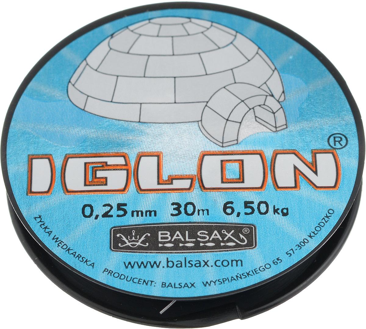 Леска зимняя Balsax Iglon, 30 м, 0,25 мм, 6,5 кг312-06025Леска Balsax Iglon изготовлена из 100% нейлона и очень хорошо выдерживает низкие температуры. Даже в самом холодном климате, при температуре вплоть до -40°C, она сохраняет свои свойства практически без изменений, в то время как традиционные лески становятся менее эластичными и теряют прочность. Поверхность лески обработана таким образом, что она не обмерзает и отлично подходит для подледного лова. Прочна в местах вязки узлов даже при минимальном диаметре.