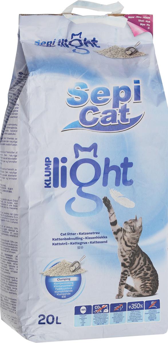 Наполнитель для кошачьих туалетов SepiCat Натуральный, комкующийся, облегченный, классический, 20 л20746Облегченный комкующийся наполнитель Sepicat Натуральный очень прост в использовании. Его легкий вес позволит поддерживать лоток вашего любимца в чистоте легко и просто. Использование мешка объемом 20 литров рассчитано 80 дней (для кошки среднего размера весом до 5 кг). Наполнитель бережно относится к окружающей среде (в соответствии с исследованием, проведенным PWC-Ecobilan). Больший размер гранул отлично подходит кошкам с длинной шерстью. Товар сертифицирован.