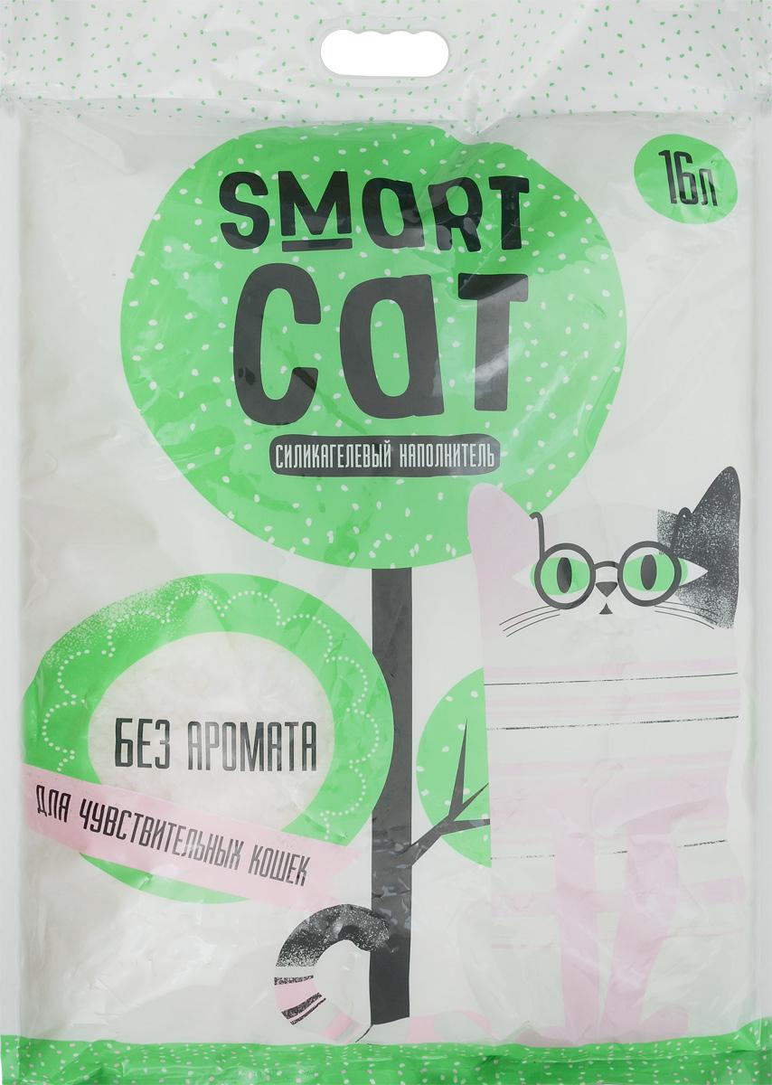 Наполнитель для кошачьих туалетов Smart Cat, силикагелевый, для чувствительных кошек, без аромата, 16 л24573Силикагелевый наполнитель Smart Cat представляет собой мелкие белоснежные гранулы, изготовленные из сухого геля поликремниевой кислоты. Такой состав обладает прекрасной способностью впитывать жидкость, а также мгновенно поглощать и удерживать туалетные запахи. Наполнитель Smart Cat не вызывает у питомцев аллергических реакций, не поднимает пыль при использовании и не прилипает к нежным кошачьим лапкам и длинной шерсти, а значит, не разносится по окружающей туалет территории. Использованный наполнитель из силикагеля удаляется из кошачьего лотка специальным совочком и утилизируется в мусорное ведро (его нельзя выбрасывать в унитаз). Специальная формула без запаха разработана специально для кошек с особо чувствительным обонянием. Наполнитель Smart Cat заботится о чистоте вашего дома и комфорте питомца! Товар сертифицирован.