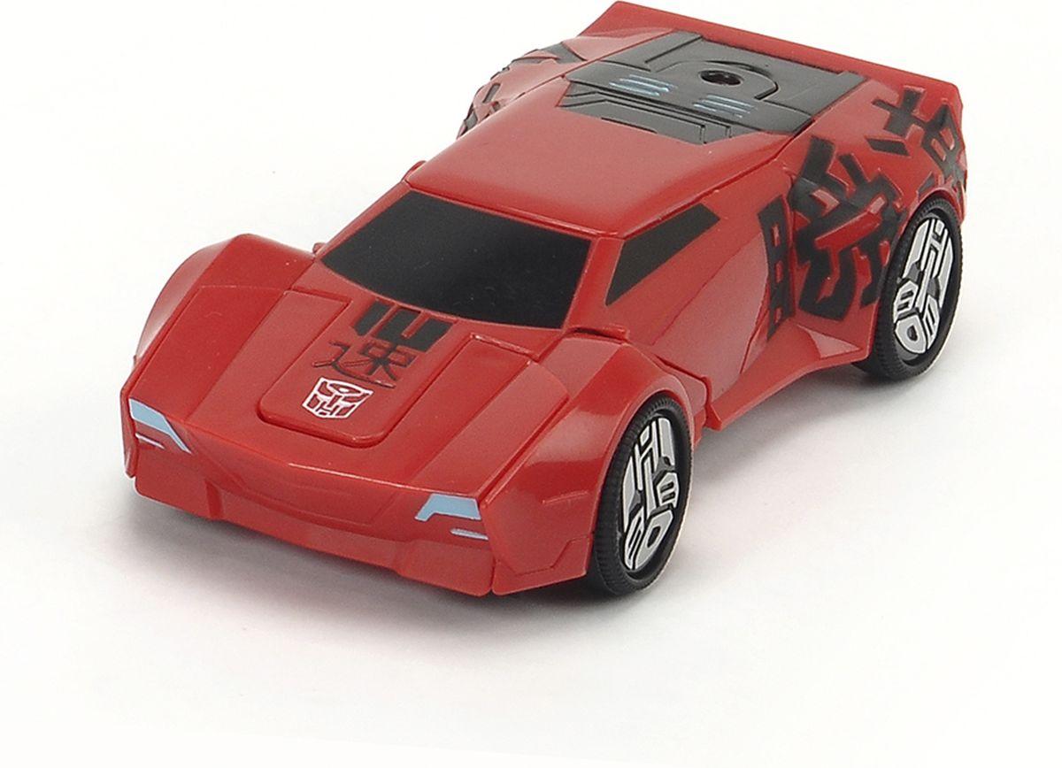 Dickie Toys Машинка-трансформер Sideswipe3113001, 203113001 SIRОригинальная машинка-трансформер Dickie Toys Sideswipe надолго займет внимание вашего ребенка. Sideswipe - это один из главных героев мультфильма Трансформеры. Роботы под прикрытием. Игрушка выполнена из прочного пластика в виде гоночной машинки, снабжена яркой подсветкой и может воспроизводить звуки мотора. Колесные диски украшены логотипом автоботов. Для превращения в робота необходимо поставить машинку на задний бампер. После превращения машинка становится боевым трансформером. В этом режиме появляются боевые звуки. Для обратного превращения достаточно просто поставить машинку на колеса. Эта игрушка непременно понравится вашему малышу. Порадуйте его таким замечательным подарком! Рекомендуется докупить 2 батарейки типа ААА напряжением 1,5V (комплектуется демонстрационными).
