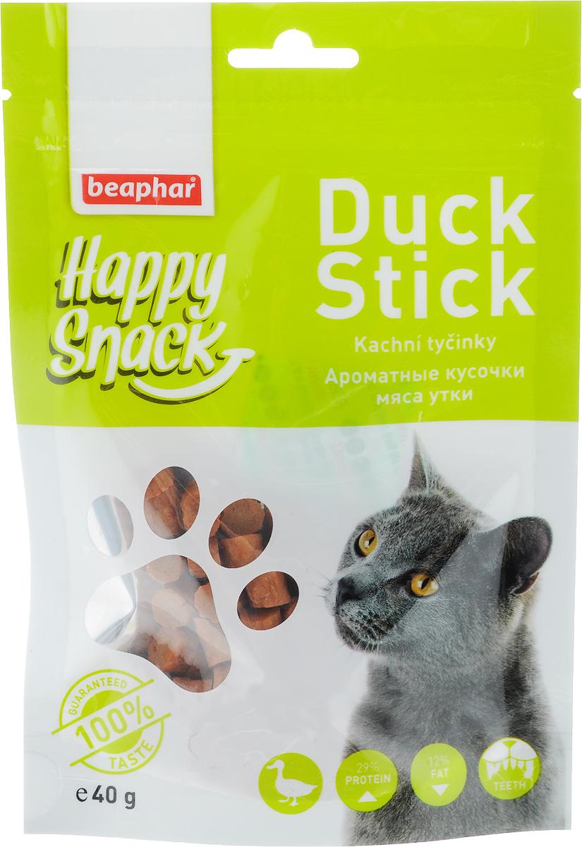 Лакомство для кошек Beaphar Happy Snack, ароматные кусочки мяса утки, 40 г42186Лакомство для котят Beaphar Happy Snack - дополнительный корм для кошек и котят с 3-месячного возраста в виде небольших кусочков из утиного мяса. Лакомство понравится даже самым искушенным кошачьим гурманам. Специальный замок zip-lock на упаковке позволяет дольше хранить лакомство. Товар сертифицирован.