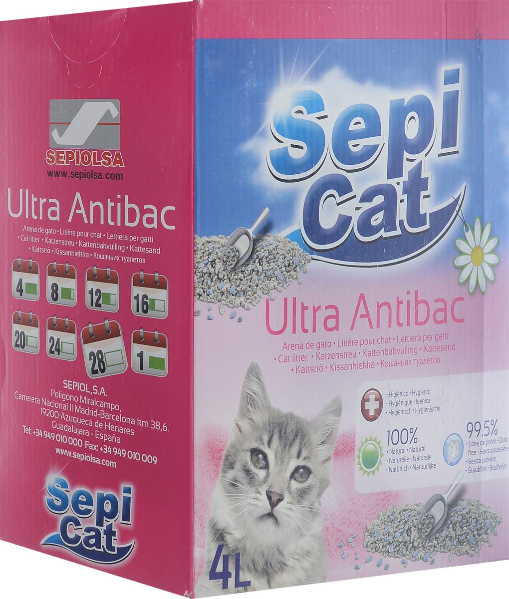 Наполнитель для кошачьих туалетов SepiCat Ультра. Антибактериальный, комкующийся, 4 л20410Экологически чистый антибактериальный комкующийся наполнитель SepiCat Ультра. Антибактериальный изготовлен из 100% натуральных минеральных компонентов. Безопасен для животного и для человека. Инновационная антибактериальная формула обеспечит исключительную гигиеничность лотка, защищая вашего питомца и дом от бактерий. Обладает превосходными комкующими свойствами. При контакте с жидкостью образует плотные компактные комки. Не пылит. Эффективно поглощает неприятные запахи. Антибактериальные ароматические гранулы активируются при контакте с жидкостью, что обеспечит чистоту и комфорт на продолжительное время. Состав: бентонит, антибактериальные добавки. Товар сертифицирован.