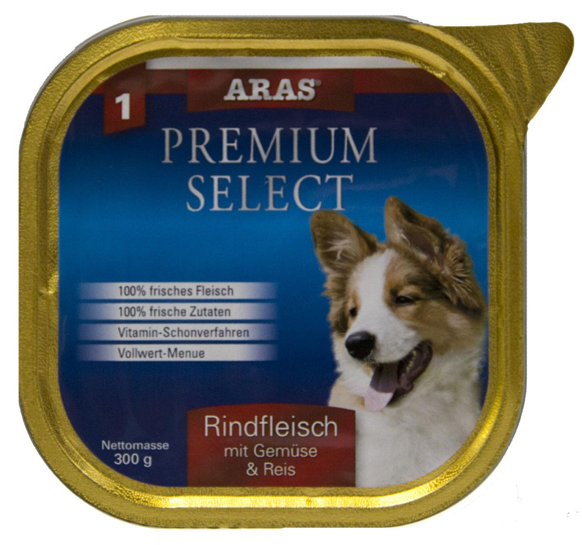 Консервы Aras Premium Select, для собак, с говядиной, овощами и рисом рис, 195 г101201Повседневный консервированный корм для собак всех пород и всех возрастов. Корм произведен в Германии из продуктов, пригодных в пищу человека по специальной технологии схожей с технологией Sous Vide. Благодаря уникальной технологии, схожей с технологий Souse Vide, при изготовлении сохраняются все натуральные витамины и минералы. Это достигается благодаря бережной обработке всех ингредиентов при температуре менее 80 градусов. Такая бережная обработка продуктов не стерилизует продуктовые компоненты. Благодаря этому корма не нуждаются ни в каких дополнительных вкусовых добавках и сохраняют все необходимые полезные вещества. При производстве кормов используются исключительно свежие натуральные продукты: мясо, овощи и зерновые; Приготовлено из 100% свежего мяса, пригодного в пищу человеку; Содержит натуральные витамины, аминокислоты, минеральные вещества и микроэлементы; С экстрактом масла зародышей зерна пшеницы холодного отжима (Bio-Dura); Без химических...