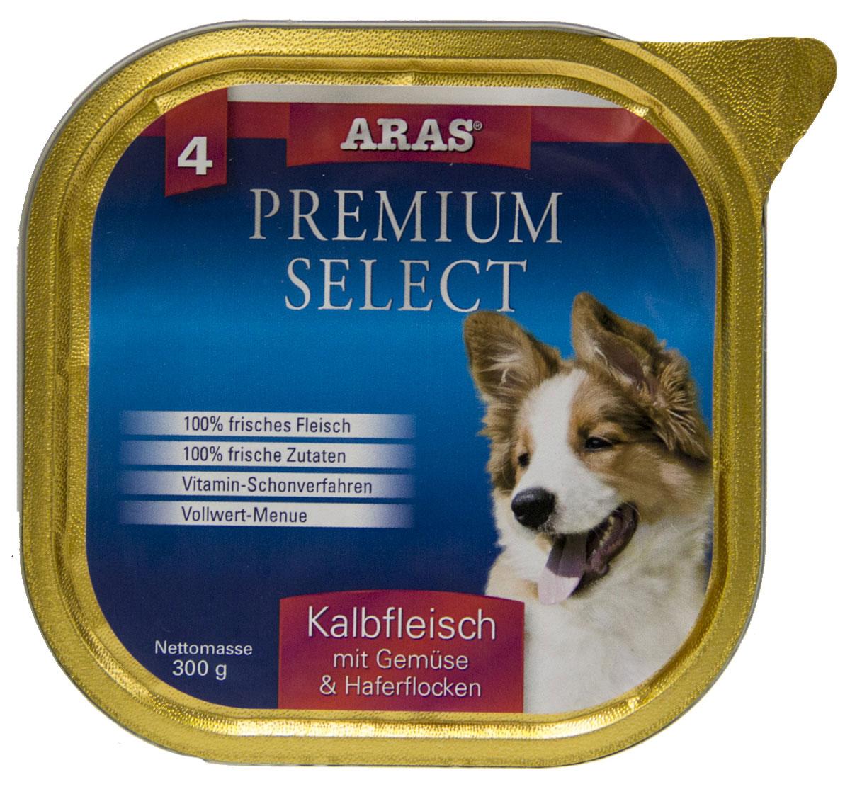 Консервы Aras Premium Select, для собак, с телятиной, овощами и овсяными хлопьями, 195 г101204Повседневный консервированный корм для собак всех пород и всех возрастов. Корм произведен в Германии из продуктов, пригодных в пищу человека по специальной технологии схожей с технологией Sous Vide. Благодаря уникальной технологии, схожей с технологий Souse Vide, при изготовлении сохраняются все натуральные витамины и минералы. Это достигается благодаря бережной обработке всех ингредиентов при температуре менее 80 градусов. Такая бережная обработка продуктов не стерилизует продуктовые компоненты. Благодаря этому корма не нуждаются ни в каких дополнительных вкусовых добавках и сохраняют все необходимые полезные вещества. При производстве кормов используются исключительно свежие натуральные продукты: мясо, овощи и зерновые; Приготовлено из 100% свежего мяса, пригодного в пищу человеку; Содержит натуральные витамины, аминокислоты, минеральные вещества и микроэлементы; С экстрактом масла зародышей зерна пшеницы холодного отжима (Bio-Dura); Без химических...