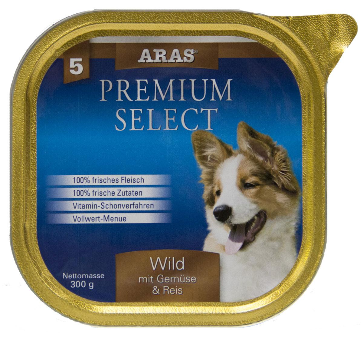 Консервы Aras Premium Select, для собак, с дичью, овощами и рисом, 195 г101205Повседневный консервированный корм для собак всех пород и всех возрастов. Корм произведен в Германии из продуктов, пригодных в пищу человека по специальной технологии схожей с технологией Sous Vide. Благодаря уникальной технологии, схожей с технологий Souse Vide, при изготовлении сохраняются все натуральные витамины и минералы. Это достигается благодаря бережной обработке всех ингредиентов при температуре менее 80 градусов. Такая бережная обработка продуктов не стерилизует продуктовые компоненты. Благодаря этому корма не нуждаются ни в каких дополнительных вкусовых добавках и сохраняют все необходимые полезные вещества. При производстве кормов используются исключительно свежие натуральные продукты: мясо, овощи и зерновые; Приготовлено из 100% свежего мяса, пригодного в пищу человеку; Содержит натуральные витамины, аминокислоты, минеральные вещества и микроэлементы; С экстрактом масла зародышей зерна пшеницы холодного отжима (Bio-Dura); Без химических...