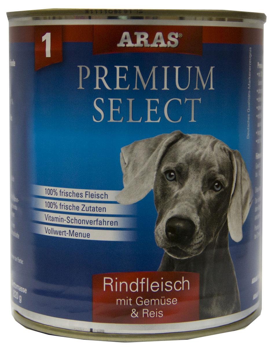 Консервы для собак Aras Premium Select, с говядиной, овощами и рисом, 820 г101801Консервы для собак Aras Premium Select - повседневный консервированный корм для собак всех пород и всех возрастов. Бережная обработка отборных ингредиентов высочайшего качества, используемых при изготовлении корма, обеспечивает вашего питомца здоровым и сбалансированным питанием. Благодаря содержанию высококачественного белка, полученного из свежего мяса, вашему питомцу требуется меньшее количества корма, чем кормов других марок. Особенности корма: - 80% содержание мяса - Изготовлен из 100% свежего мяса, пригодного в пищу человеку - Без химических красителей и усилителей вкуса - Без консервантов - Без химических добавок - Из 100% свежих ингредиентов - С экстрактом масла зародышей пшеницы холодного отжима - Сохранение натуральных витаминов в процессе изготовления - Гарантия свежести Состав: свежее мясо говядины и субпродукты 92%, овощи (морковь, лук-порей) 4%, рис 3%, экстракт зародышей пшеницы холодного отжима...