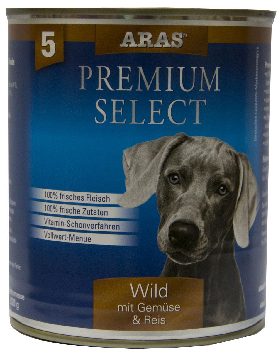 Консервы для собак Aras Premium Select, с дичью, овощами и рисом, 820 г101805Консервы для собак Aras Premium Select - повседневный консервированный корм для собак всех пород и всех возрастов. Бережная обработка отборных ингредиентов высочайшего качества, используемых при изготовлении корма, обеспечивает вашего питомца здоровым и сбалансированным питанием. Благодаря содержанию высококачественного белка, полученного из свежего мяса, вашему питомцу требуется меньшее количества корма, чем кормов других марок. Особенности корма: - 80% содержание мяса - Изготовлен из 100% свежего мяса, пригодного в пищу человеку - Без химических красителей и усилителей вкуса - Без консервантов - Без химических добавок - Из 100% свежих ингредиентов - С экстрактом масла зародышей пшеницы холодного отжима - Сохранение натуральных витаминов в процессе изготовления - Гарантия свежести Состав: свежее мясо дичи и субпродукты 92%, овощи (морковь, лук-порей) 4%, рис 3%, экстракт зародышей пшеницы холодного отжима 1%. ...