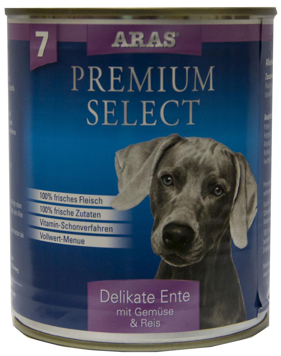 Консервы для собак Aras Premium Select, с уткой, овощами и рисом, 820 г101807Консервы для собак Aras Premium Select - повседневный консервированный корм для собак всех пород и всех возрастов. Бережная обработка отборных ингредиентов высочайшего качества, используемых при изготовлении корма, обеспечивает вашего питомца здоровым и сбалансированным питанием. Благодаря содержанию высококачественного белка, полученного из свежего мяса, вашему питомцу требуется меньшее количества корма, чем кормов других марок. Особенности корма: - 80% содержание мяса - Изготовлен из 100% свежего мяса, пригодного в пищу человеку - Без химических красителей и усилителей вкуса - Без консервантов - Без химических добавок - Из 100% свежих ингредиентов - С экстрактом масла зародышей пшеницы холодного отжима - Сохранение натуральных витаминов в процессе изготовления - Гарантия свежести Состав: свежее мясо утки 92%, овощи (морковь, лук-порей) 4%, рис 3%, экстракт зародышей пшеницы холодного отжима 1%. Пищевая...