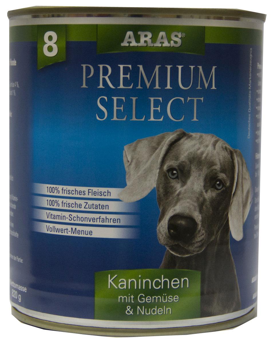 Консервы для собак Aras Premium Select, с кроликом, овощами и лапшой, 820 г101808Консервы для собак Aras Premium Select - повседневный консервированный корм для собак всех пород и всех возрастов. Бережная обработка отборных ингредиентов высочайшего качества, используемых при изготовлении корма, обеспечивает вашего питомца здоровым и сбалансированным питанием. Благодаря содержанию высококачественного белка, полученного из свежего мяса, вашему питомцу требуется меньшее количества корма, чем кормов других марок. Особенности корма: - 80% содержание мяса - Изготовлен из 100% свежего мяса, пригодного в пищу человеку - Без химических красителей и усилителей вкуса - Без консервантов - Без химических добавок - Из 100% свежих ингредиентов - С экстрактом масла зародышей пшеницы холодного отжима - Сохранение натуральных витаминов в процессе изготовления - Гарантия свежести Состав: свежее мясо кролика и субпродукты 92%, овощи (морковь, лук-порей) 4%, лапша 3%, экстракт зародышей пшеницы холодного отжима...