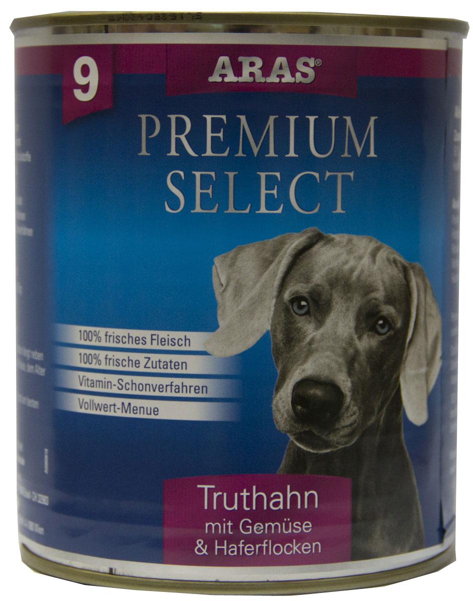 Консервы Aras Premium Select, для собак, с индейкой, овощами и овсяными хлопьями, 820 г101809Повседневный консервированный корм для собак всех пород и всех возрастов. Корм произведен в Германии из продуктов, пригодных в пищу человека по специальной технологии схожей с технологией Sous Vide. Благодаря уникальной технологии, схожей с технологий Souse Vide, при изготовлении сохраняются все натуральные витамины и минералы. Это достигается благодаря бережной обработке всех ингредиентов при температуре менее 80 градусов. Такая бережная обработка продуктов не стерилизует продуктовые компоненты. Благодаря этому корма не нуждаются ни в каких дополнительных вкусовых добавках и сохраняют все необходимые полезные вещества. При производстве кормов используются исключительно свежие натуральные продукты: мясо, овощи и зерновые; Приготовлено из 100% свежего мяса, пригодного в пищу человеку; Содержит натуральные витамины, аминокислоты, минеральные вещества и микроэлементы; С экстрактом масла зародышей зерна пшеницы холодного отжима (Bio-Dura); Без химических...