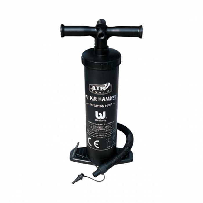 Насос ручной Bestway Air hammer, высота 48 см. 6203062030Ручной насос Air hammer предназначен для накачивания и сдувания надувных вещей и игрушек. Надувает при движении поршня насоса вверх-вниз. Особенности насоса Air hammer: Объем воздуха: 2 х 2000 см3 Легко переключается с надувания на сдувание Гибкий шланг 3 переходника, подходит практически для любого клапана Особо прочная конструкция. Характеристики: Материал: пластик. Высота насоса: 48 см. Объем воздуха: 2х2000 см3. Размер упаковки: 49 см х 23 см х 12 см. Изготовитель: Китай. Артикул: 62030.