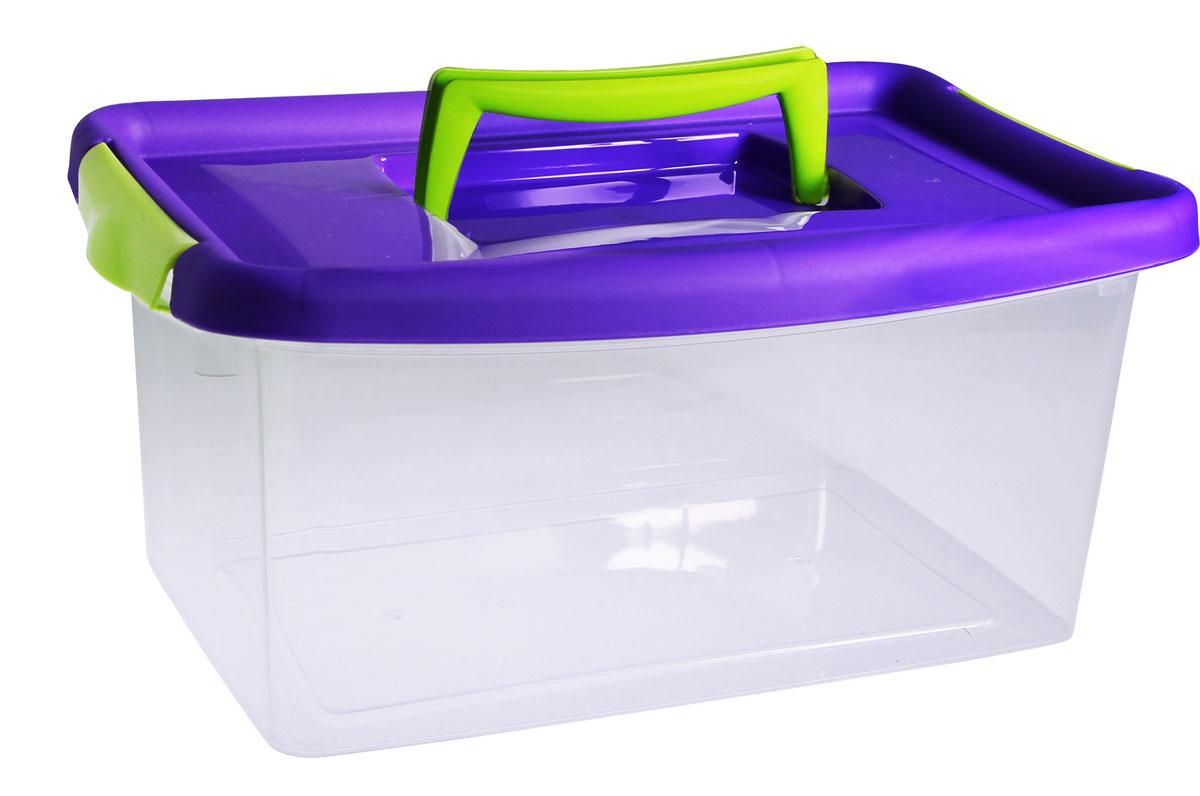 Контейнер для хранения Idea, цвет: фиолетовый, 29 x 19 x 29, 4 лМ 2871_фиолетовыйКонтейнер для хранения Idea, цвет: фиолетовый, 4 л