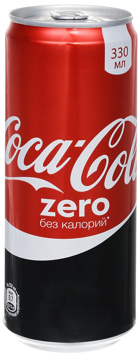 Coca-Cola Zero напиток сильногазированный, 0,33 л 225016