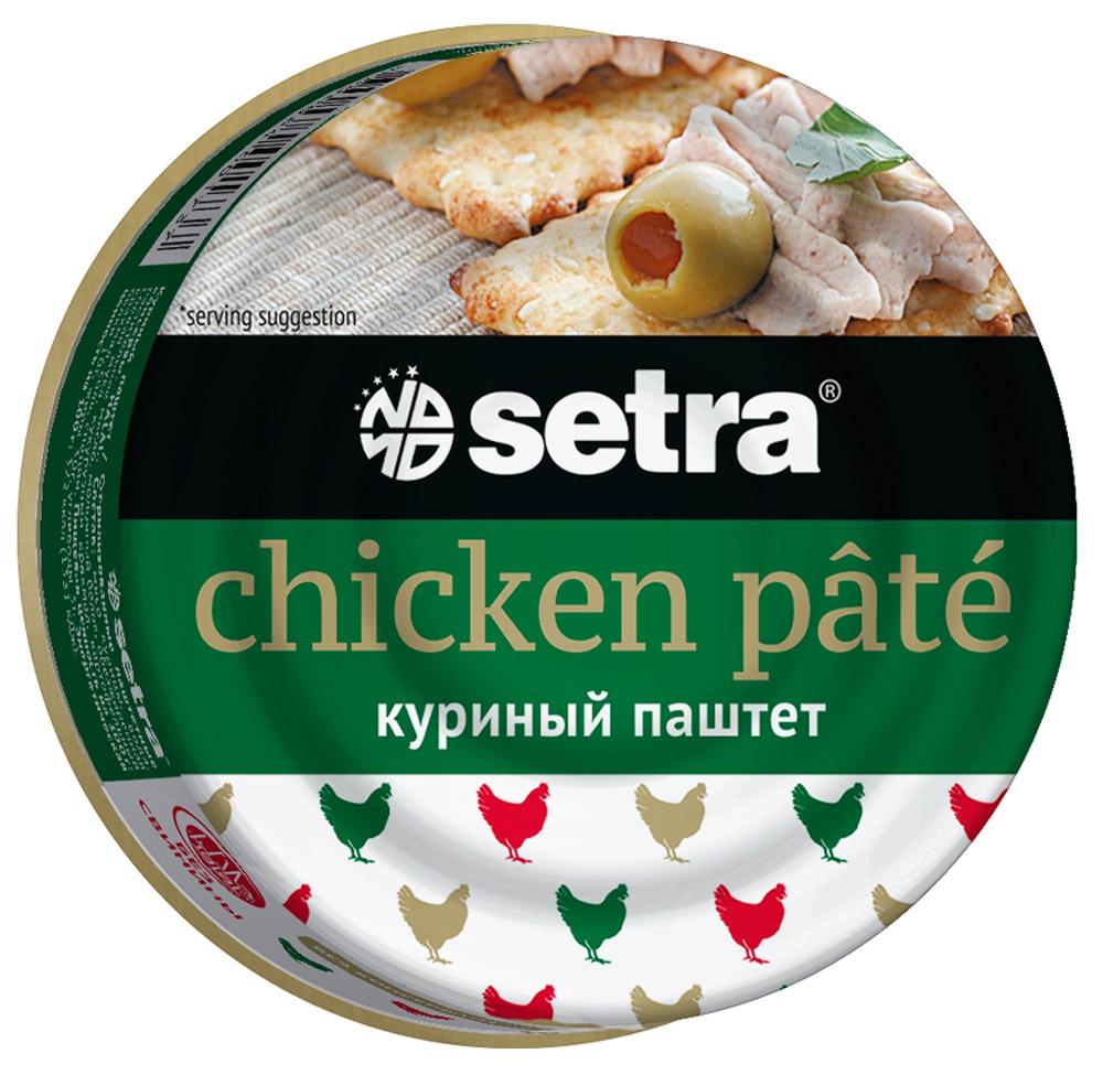 Setra паштет куриный,100 ггое002Паштет не содержит свинины, консервантов. Имеет сертификат Халяль.