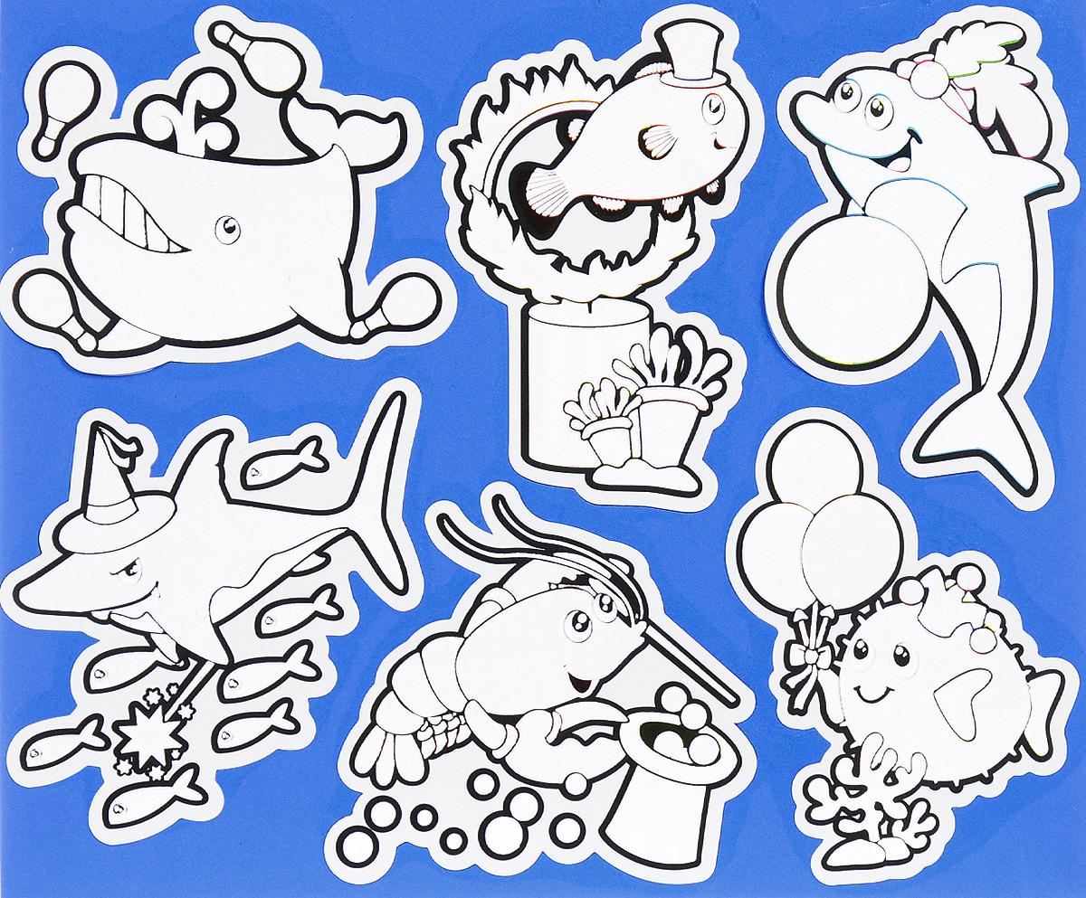 Многоразовые водные наклейки для игр в ванной