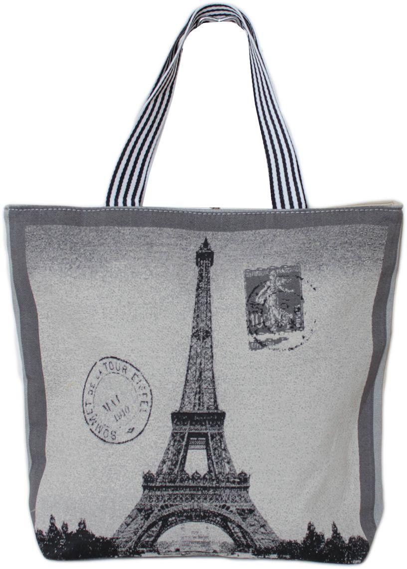 Сумка пляжная женская Flioraj, цвет: серый. 0005319700053197Закрывается на молнию. Внутри одно отделение и один карман на молнии. Высота ручек 25 см.
