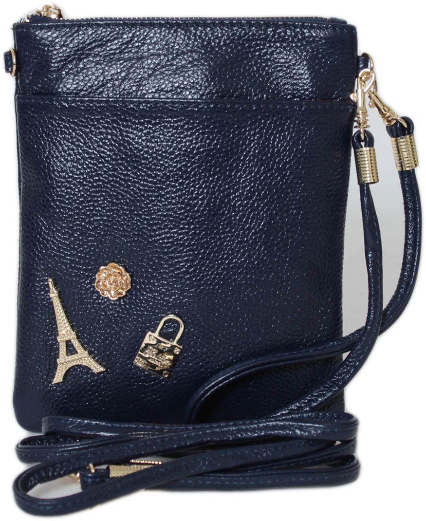 Кошелек женский Flioraj, цвет: синий. 00053199-1700053199-17Закрывается на молнию. Внутри одно отделение, один карман на молнии и два открытых, снаружи карман на молнии и один открытый. В комплекте короткий ремешок и длинный.