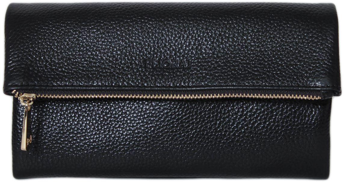 Кошелек женский Flioraj, цвет: черный. 00053205-1700053205-17Закрывается на кнопку. Внутри три отделения для купюр, карман на молнии для монет. Присутствуют кармашки для пластиковых карт.