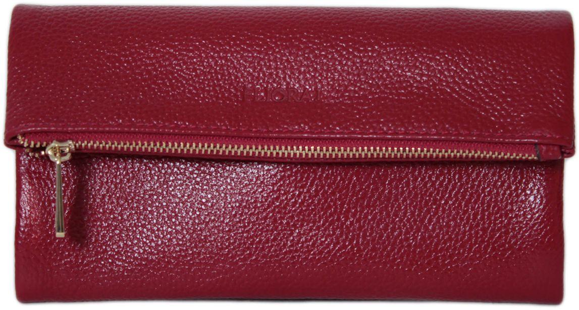 Кошелек женский Flioraj, цвет: красный. 00053207-1700053207-17Закрывается на кнопку. Внутри три отделения для купюр, карман на молнии для монет. Присутствуют кармашки для пластиковых карт.