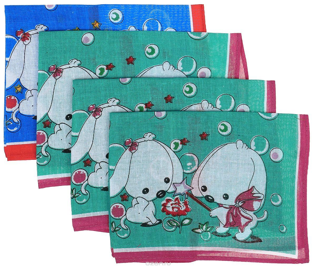 Платок носовой детский Zlata Korunka, цвет: зеленый, синий, 4 шт. 71406. Размер 27 х 27 см71406_зеленыйДетские носовые платки Zlata Korunka изготовлены из натурального хлопка, приятны в использовании, хорошо стираются, материал не садится и отлично впитывает влагу. В упаковке 4 штуки.