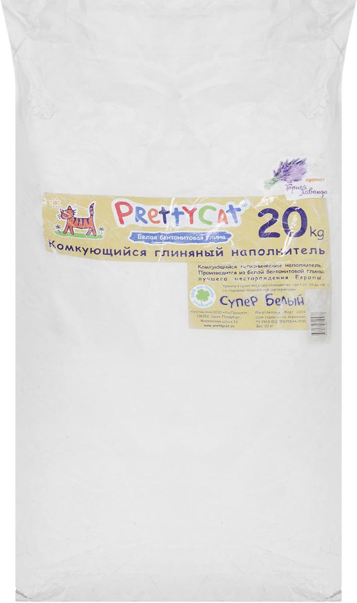 Наполнитель для кошачьих туалетов PrettyCat Супер белый, комкующийся, с ароматом лаванды, 20 кг620437Наполнитель для кошачьих туалетов PrettyCat Супер белый - это 100% натуральный комкующийся наполнитель. Изготовлен из белой бентонитовой глины лучшего европейского качества. Впитывает до 400% влаги, прекрасно комкуется в идеально ровные шарики. Благодаря способности моментально образовывать крепкие комки, он обеспечит необходимую гигиену в кошачьем туалете, а также значительно упростит процесс уборки. Наполнитель изготовлен из экологически чистого материала, поэтому будет напоминать вашему питомцу о естественной среде обитания, а вам не доставит лишних хлопот по уходу за своим любимцем. Приятный аромат лаванды создаст дополнительное ощущение свежести при использовании. Состав: белая бентонитовая глина. Вес: 20 кг. Товар сертифицирован.