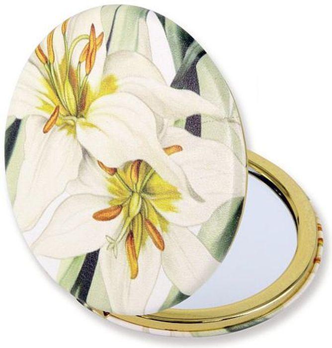 Зеркало карманное Carmani Белая лилия. CAR181-5205-AL