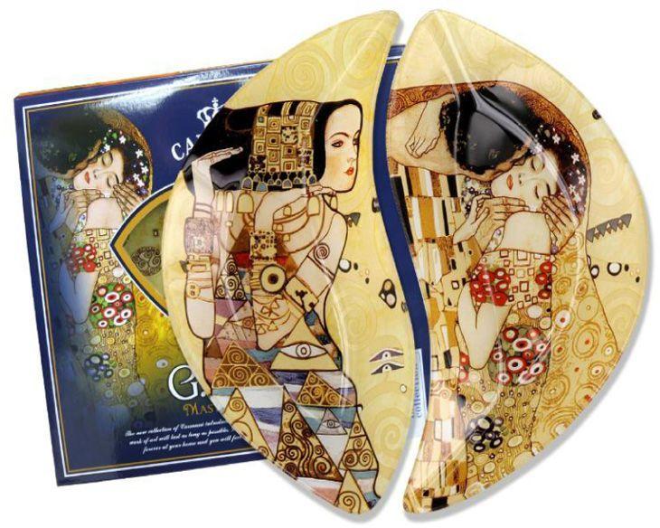 Набор тарелок Carmani Ожидание/Поцелуй (Г. Климт), 21,5х12 см, 2 штCAR198-7023-ALТорговая марка Carmani (Польша) известна с XIX века. Основатель марки, Престон Кармани, принадлежал к высшему свету Европы, известному своими прогрессивными идеями и тягой к искусству. Конкурентными преимуществами марки Carmani является высокое качество продукции и неповторимый дизайн. Процесс разработки нового предмета представляет собой сочетание традиционных методов и современных компьютерных технологий. Следует отметить, что каждая серия кружек Carmani имеет яркую индивидуальность, оригинальный дизайн и отражает разные темы, связанные с развитием и культурой человечества. Стеклянные тарелки и карманные зеркала с изображением прекрасных дам с полотен известных художников, выпускаются ограниченным тиражом и имеют коллекционную ценность.