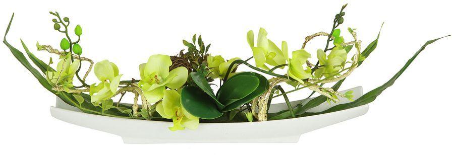 Декоративные цветы Dream Garden Орхидея желтая, на подставке, 56х11х25,5см. DG-15004-GR-ALDG-15004-GR-ALДекор.цветы Орхидея желтая на керам подставке 56х11х25.5см Торговая марка Dream Garden, Китай. Композиции из искусственных цветов долговечны, не требуют ежедневного ухода, выполнены из натуральных шелка и текстиля, прошедших специальную обработку высококачественными современными материалами. Искусственные цветы максимально приближены к натуральным, не пахнут, что исключает все аллергические реакции.