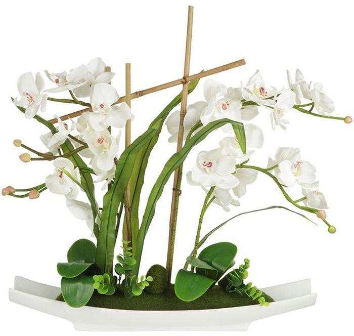 Декоративные цветы Dream Garden Орхидея белая, на подставке, 56х11х58см. DG-15005-ALDG-15005-ALДекор.цветы Орхидея белая на керам подставке 56х11х58см Торговая марка Dream Garden, Китай. Композиции из искусственных цветов долговечны, не требуют ежедневного ухода, выполнены из натуральных шелка и текстиля, прошедших специальную обработку высококачественными современными материалами. Искусственные цветы максимально приближены к натуральным, не пахнут, что исключает все аллергические реакции.