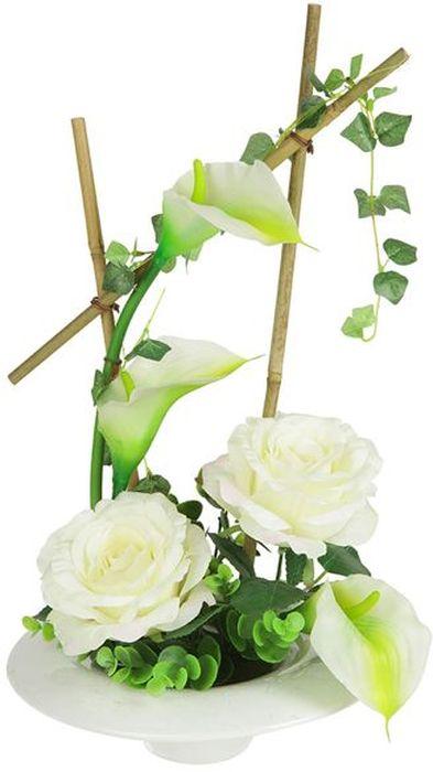 Декоративные цветы Dream Garden Розы и каллы белые, на подставке, 24х24х43,5см. DG-15009-ALDG-15009-ALДекор.цветы Розы и каллы белыена керам подставке 24х24х43.5см Торговая марка Dream Garden, Китай. Композиции из искусственных цветов долговечны, не требуют ежедневного ухода, выполнены из натуральных шелка и текстиля, прошедших специальную обработку высококачественными современными материалами. Искусственные цветы максимально приближены к натуральным, не пахнут, что исключает все аллергические реакции.