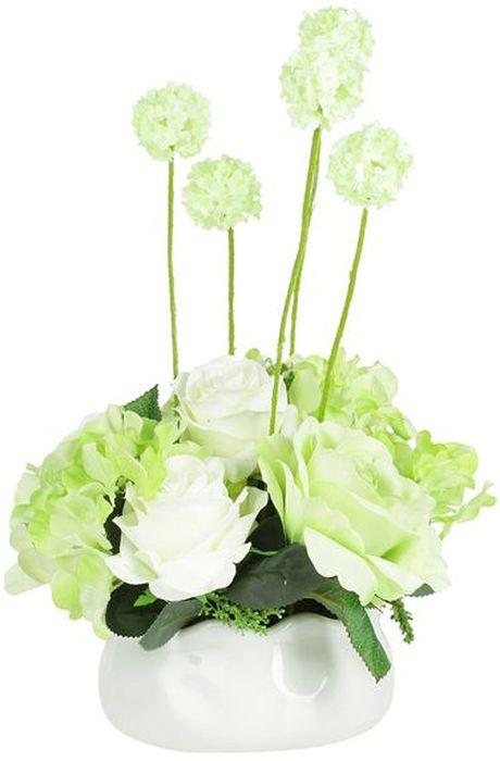 Цветы декоративные Dream Garden Розы, в вазе, 16 х 16 х 38 смDG-15144-ALКомпозиции из искусственных цветов Dream Garden, выполненные из высококачественных материалов, долговечны и не требуют ежедневного ухода. Искусственные цветы максимально приближены к натуральным, не пахнут, что исключает все аллергические реакции.