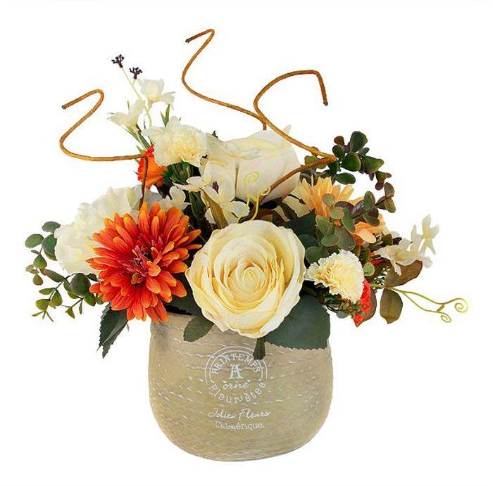 Цветы декоративные Dream Garden Букет, в вазе, 38 х 30 х 33 смDG-R16022-ALКомпозиции из искусственных цветов Dream Garden, выполненные из высококачественных материалов, долговечны и не требуют ежедневного ухода. Искусственные цветы максимально приближены к натуральным, не пахнут, что исключает все аллергические реакции.