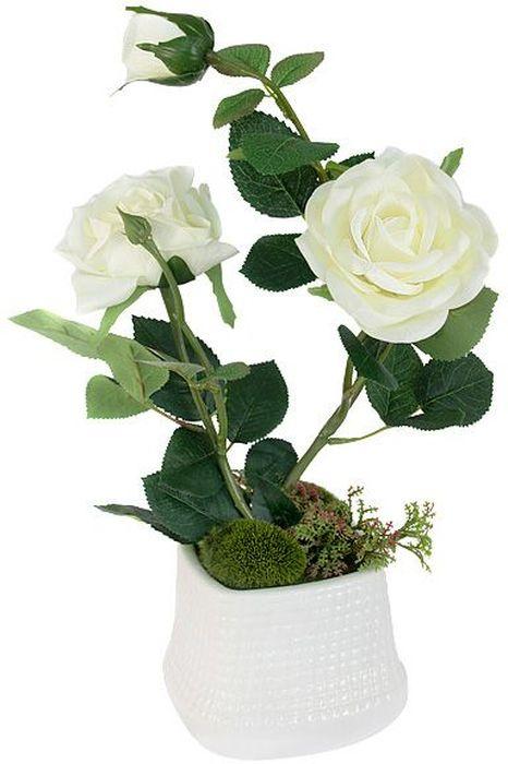 Цветы декоративные Dream Garden Розы, в вазе, 27 х 14 х 37 смDG-R16028N-W-ALТорговая марка Dream Garden, Китай. Композиции из искусственных цветов долговечны, не требуют ежедневного ухода, выполнены из натуральных шелка и текстиля, прошедших специальную обработку высококачественными современными материалами. Искусственные цветы максимально приближены к натуральным, не пахнут, что исключает все аллергические реакции.